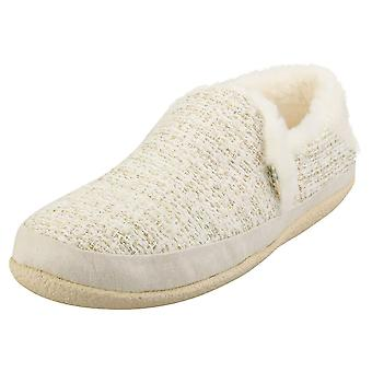 Toms India Metallic Boucle Womens Slippers Shoes in White