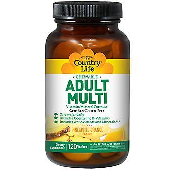 Country Life Adult Multi, 120 pureskeltavaa vohvelia