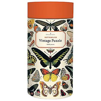 Cavallini Schmetterlinge Puzzle 1000 Stück