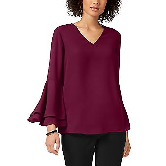 Alfani | V-Neck Poet-Sleeve Top