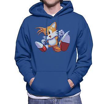Sonic The Hedgehog Tails Excited Jump Men's Hooded Sweatshirt