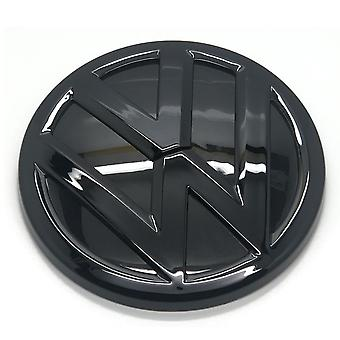 Gloss Black VW Volkswagen Polo 6C Rear Rear Boot Tailgate Badge Emblem 2014-2016 110mm