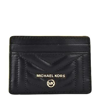 MICHAEL Michael Kors Quilted Leather Card Holder In Black