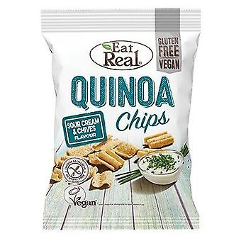 Mangez real quinoa sour cream & chive chips 30g x12