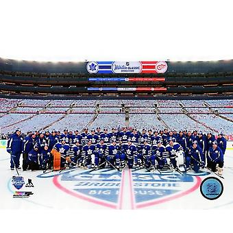 Toronto Maple Leafs Team foto 2014 NHL Winter Classic Photo Print