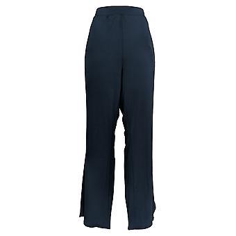 H Por Halston Mujeres's Pantalones Regular Jet Set Jersey Tulip Flare Azul A306927