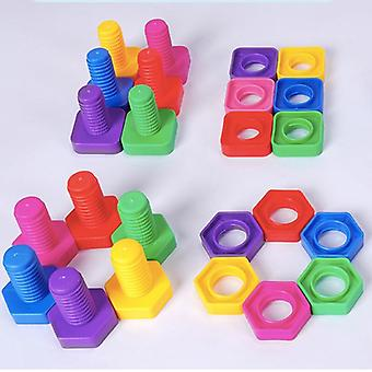 Montessori 3d παζλ παιχνίδι βίδα δομικά στοιχεία για το μωρό