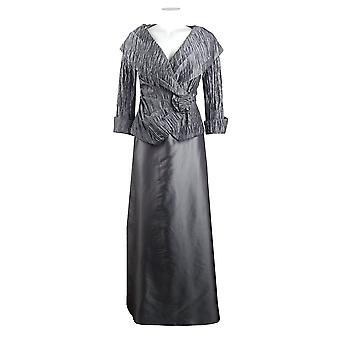 Cachet Crinkled Taffeta Top And Full Skirt Set