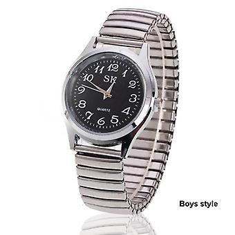 Μόδα Ρολόγια χειρός-ευέλικτη stretch μπάντα χαλαζία ρολόγια φόρεμα ρολόι απλό