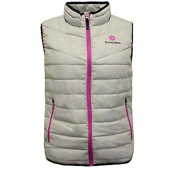 Diadora J. Padded Gilet Girls Bodywarmer Junior Vest Grey 102 17119 75126 A38C