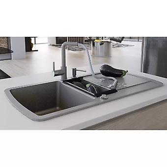 Granite sink double basin Grey