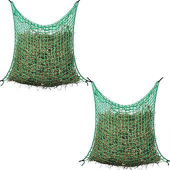 vidaXL Hay nets 2 pcs Square 0.9x1.5 m PP