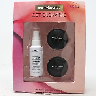 Bareminerals Get Glowing 3-Pcs Bronze & Glow Minit Kit / Nouveau avec boîte