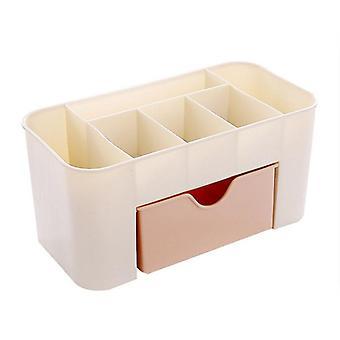 Cleaner Cosmetic Box Plastic Organizer Make Up Brush Storage Drawer Cotton
