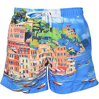 Ermenegildo Zegna Portofino Swim Shorts, Turquoise Blue