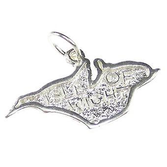 Wyspa Wight Sterling Silver Charm .925 X 1 Uk Islands Charms - 7598