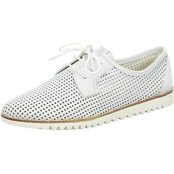 Białe buty uni low heel