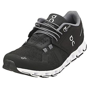 On Running Cloud Womens Running Trainers in Black White