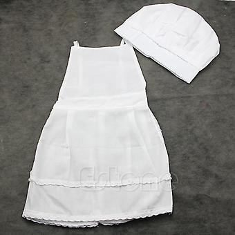 Chef Restaurant Waitress Uniform For Child (white One Size)