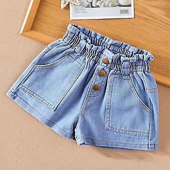 Jenter Bomull Dongeri Jeans Shorts, Tynn Myke Bukser