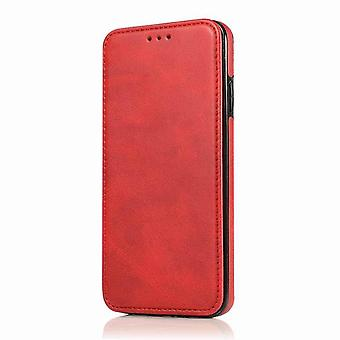 Magnetic Leather CaseSimple for Huawei P30 Pro - red