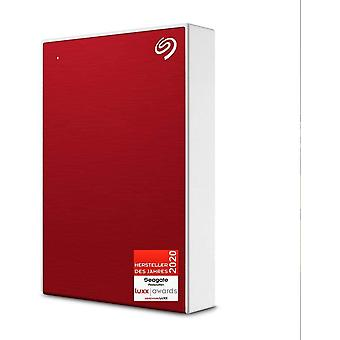 HanFei One Touch, tragbare externe Festplatte 5 TB, PC, Notebook & Mac, USB 3.0, Rot, inkl. 2