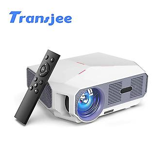 support 1080P 4K Mini Projector LED HD(White)