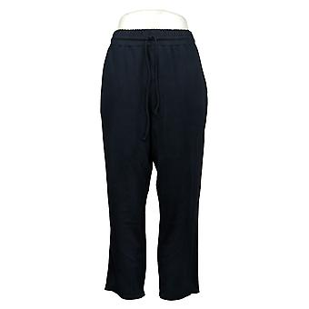Gibson Women's Pants Drawstring Waist with Side Pockets Navy Blue