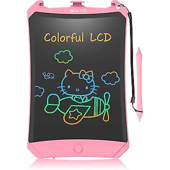HanFei LCD Schreibtafel, Buntes Display 8,5 Zoll Kinder Zeichentafel (Rosa)