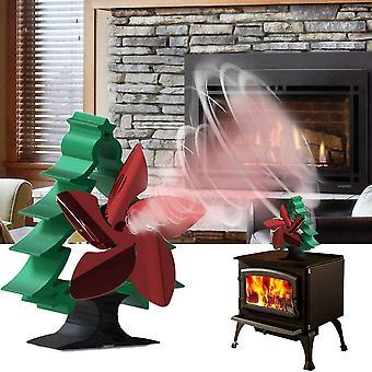 Ventilator Stove Fan Kamin fr Ofen, drehbar, Holzofen, Baumform, Wrmebetrieben, mit 5 Flgeln, leise,