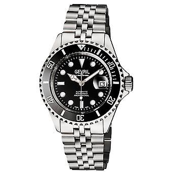 Gevril Men&s Wall Street BLK Dial BLK Keramisk ram Rostfritt Stål Armband