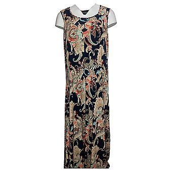 Attitudes by Renee Petite Dress Printed Maxi Dress Black A375422