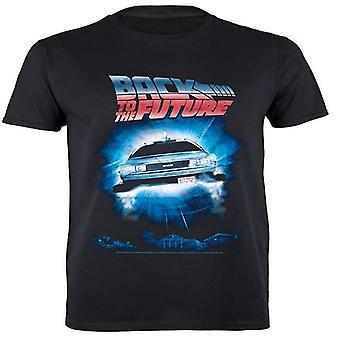 Takaisin Future Mens Portal Delorean T-paita