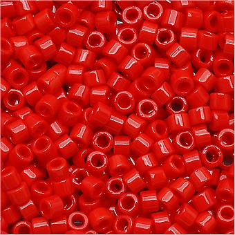 Miyuki Delica Rocailles, 11/0 Maat, 7.2 Gram, Ondoorzichtige Donkere Cranberry DB723