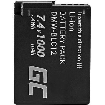 FengChun Grüne Zelle DMW-BLC12 DMW-BLC12E DMW-BLC12PP Kamera-Akku für Panasonic Lumix FZ200 FZ300