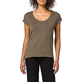 PIECES PCBILLONE SS Top Stripes Noos T-Shirt, Sea Turtles. Details: Black, Silver, Gld Lurex CP, XS Woman