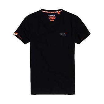Superdry O L Vintage EMB S/S Vee Tee T-Shirt, Black (Black 02a), L Men's