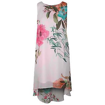 Frank Lyman rosa negrita Floral sin mangas verano vestido