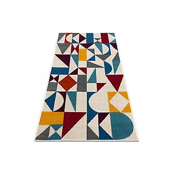 Alfombra GINA 21243061 geométrica beige / gris / azul