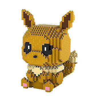 Nouveaux blocs de construction Eevee Puzzle Micro 3d Figures Pokemon Educational Brick Toys Brown ES7485
