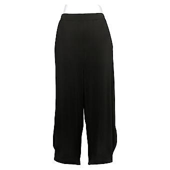 Antthony Women's Pants Wide-Leg Tulip-Hem Crop Black 747088