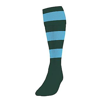 Präzision Hooped Fußball Socken Herren Flasche/Sky