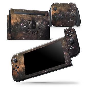 Gold Aura Space - Bőr wrap matrica Nintendo Switch Lite konzolhoz >>