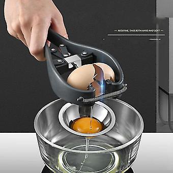Stainless Steel Egg Oppener Eggshell Cutter Cracker Tool Scissors Separator