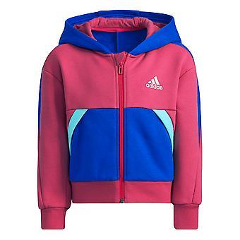 Adidas Girls Fleece Jacheta cu glugă