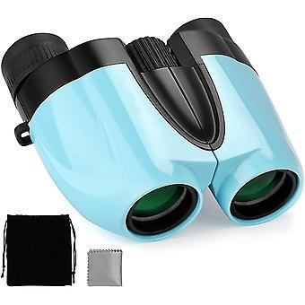 مناظير للأطفال مع التكبير عالية - مناظير الأطفال المدمجة 10 * 25 مناظير للماء تلسكوب صغير خفيف الوزن للمغامرين قليلا ،(الأزرق)