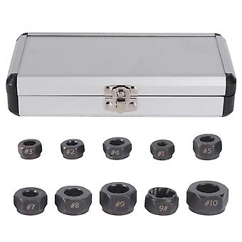 10 Pcs/set Professional Hex Damaged Nut Extractor Broken Bolts Remover Extractor For Easily Removing Hardness Nuts