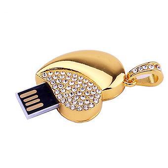 Diamant Kristall Herz USB Flash Laufwerk Metall Memory Stick penrive 64GB U Festplatte kostenloser Versand