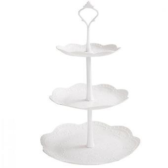 Cake Stand - Pure White Elegant Dessert Cupcake Stand (Style2)