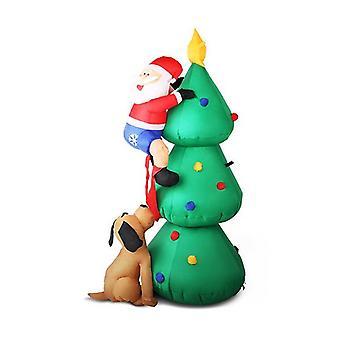 Inflatable Santa On Christmas Tree Lights Xmas Decor Airblown